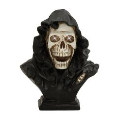 Benzara Spooky Led Skull Bust With Cape