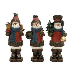 Exquisite Crafted 3 Assorted Snowmen