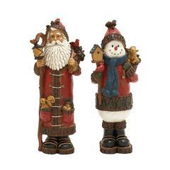 Benzara Opulent 2 Assorted Santa Snowman