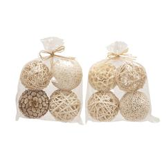 Benzara Wonderful Natural Decorative Ball 2 Assorted