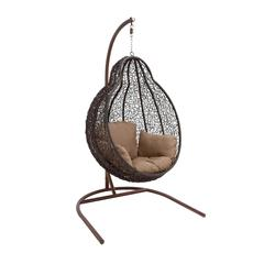 Benzara The Beautiful Metal Rattan Swing