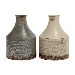 Benzara Antique Themed Classy Set Of 2 Ceramic Vases