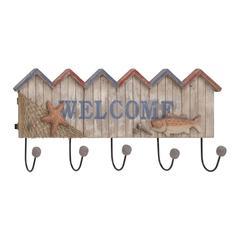 Striking Styled Wood Metal Welcome Hook