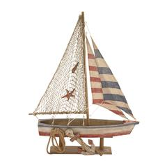 Attractive Styled Wood Rope Sailing Boat