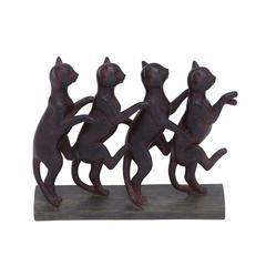 Row Of Lexington Standing Cats Décor