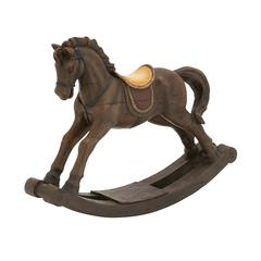 Benzara Impressive Styled Polystone Rocking Horse
