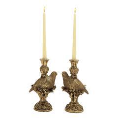 Benzara Eloquent 2 Assorted Bird Candle Holders
