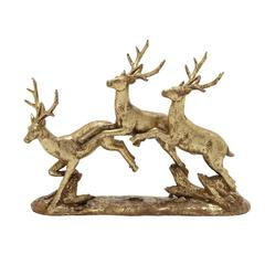 Benzara Stylish And Wonderful Golden Deer Sculpture