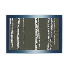 Benzara Abstract Classic Wood Mirror Wall Décor