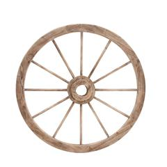 Benzara The Simple And Exceptional Wood Metal Wagon Wheel