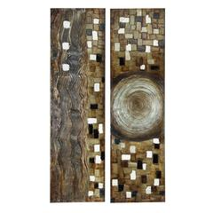 Benzara Canvas Painting Set Of 2 Assorted Attracts At Very First Sight