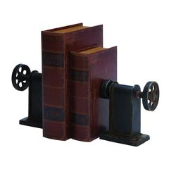 Benzara Metal Bookends Pair Exhibits Passion For Books