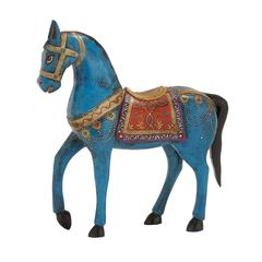 Exclusive Unique Styled Wood Painted Horse