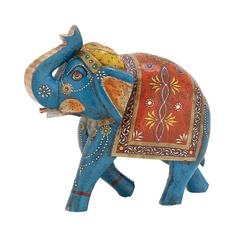 The Inspiring Wood Painted Elephant
