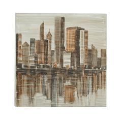Benzara Classic Canvas Aluminum Art