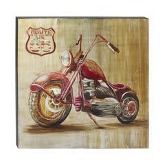 """Aluminium Canvas Art 40""""W, 40""""H,  Red"""