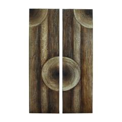 Benzara Wooden Wall Art With Intricate Aesthetic Design 2 Assorted