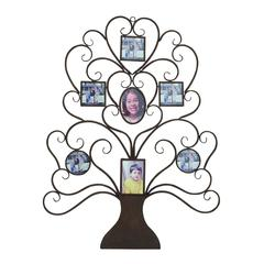 Metal Wall Tree Shaped Photo Frame