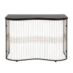Benzara The Beautiful Metal Wood Console Table