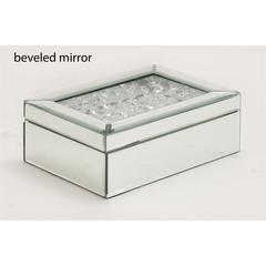 Unique Styled Striking Wood Mirror Jewelry Box