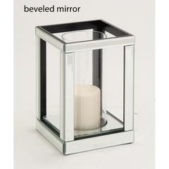 Benzara The Lovely Wood Mirror Candle Holder