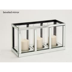 Benzara The Grand Wood Mirror Candle Holder