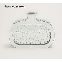 Benzara The Stunning Wood Mirror Glass Vase