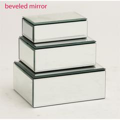 The Prized Set Of 3 Wood Mirror Jewelry Box