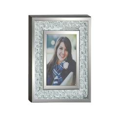 "Benzara Bubble Design Wood Mirror Photo Frame 8""W, 10""H"
