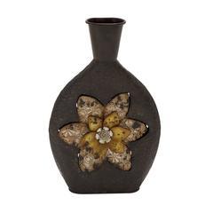 Benzara Antique Themed Metal Vase