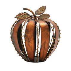 Creatively Styled Metal Acrylic Pumpkin