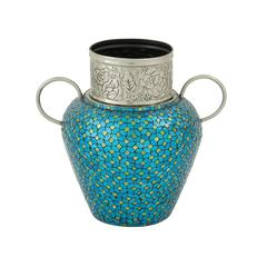 Benzara Gracefully Styled Metal Mosaic Vase