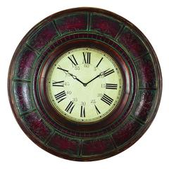 Benzara Wood Wall Clock With 36 Inch Diameter