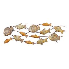 Benzara Metal Fish Wall Decor A Rectangular Wall Plaque