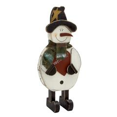 Benzara Adorable Standing Snowman With Scarf