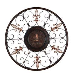 Metal Wall Plaque With Eye Catching Decor Appeal