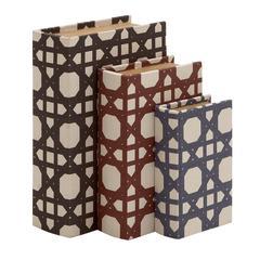 Beautiful And Trendy Wood Vinyl Book Box Set Of 3