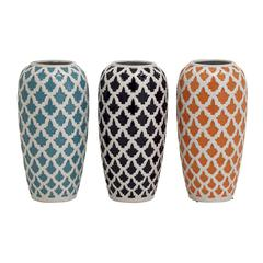 Benzara Charming And Exclusive Ceramic Vase 3 Assorted
