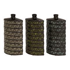 Benzara Stunning And Unique Set Of 3 Assorted Ceramic Vases