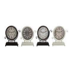 Benzara Yangtze Smart Styled Metal Desk Clock 4 Assorted
