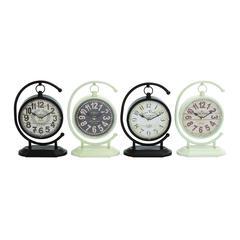Creative Globe Styled Metal Desk Clock 4 Assorted