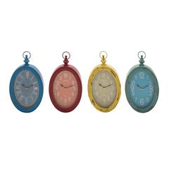 Benzara The Must Have Metal Wall Clock 4 Assorted