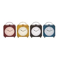 Benzara The Delightful Metal Desk Clock 4 Assorted