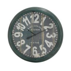 Charismatic And Antique Styled Metal Wall Clock
