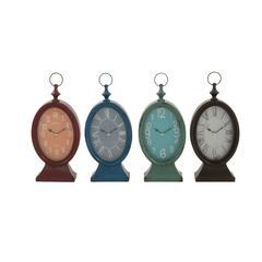 Stylish Metal Table Clock 4 Assorted