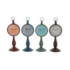 Stunning And Unique Metal Table Clock 4 Assorted