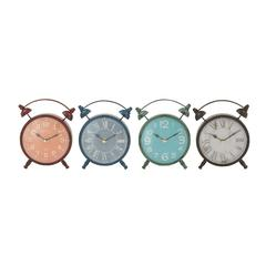 Elegant Metal Table Clock 4 Assorted