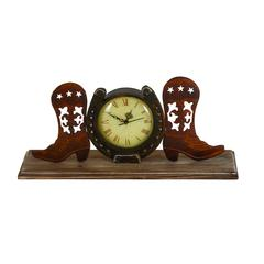Boot Clock In Copper And Antique Shades With Unique Design