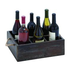 Wine Tray Crafted With Six Storage Compartments