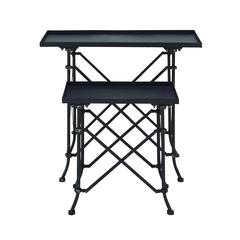 Benzara Stylish Non Corrosive Metal Accent Table In (Set Of 2)